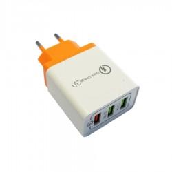 Universal USB 3.0 Fast Wall Charger QC 1xUSB 5V/3A & 2xUSB 5V/2.1A Λευκό SDS-1928